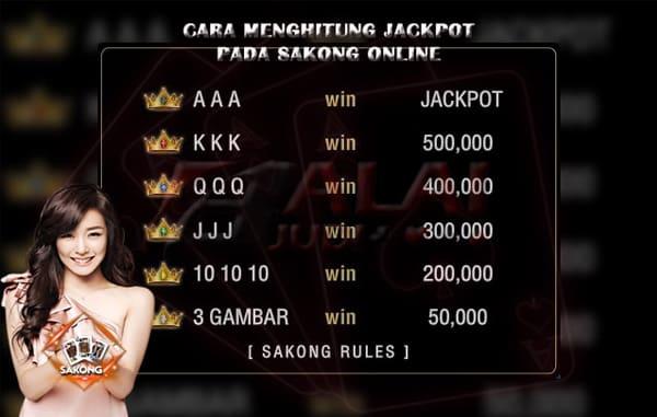 Perhitungan Jackpot Sakong - Balaijudi