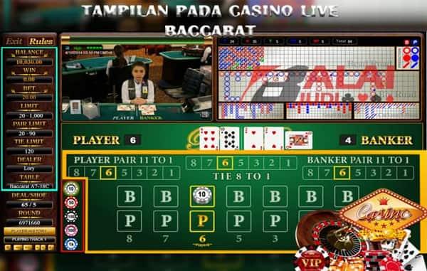 Tampilan Live Baccarat Online Balaijudi